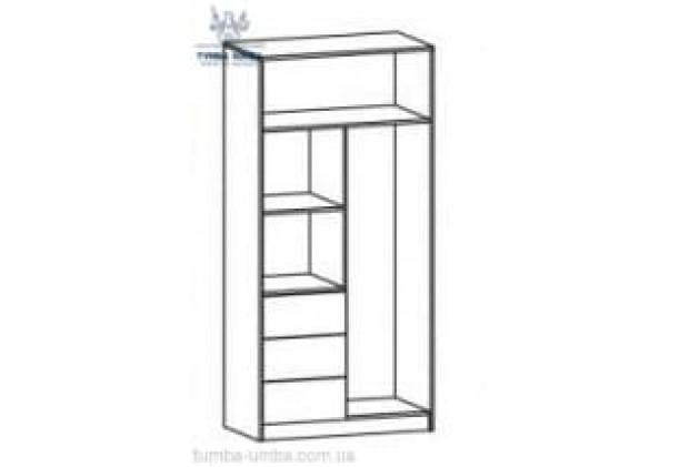 Шкаф одёжный 2Д3Ш Симба МС