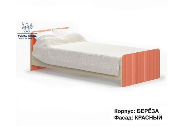 фото односпальная кровать Симба-90 в красном цвете дешево от производителя Мебель Сервис с доставкой по всей Украине в интернет-магазине Тумба Юмба.