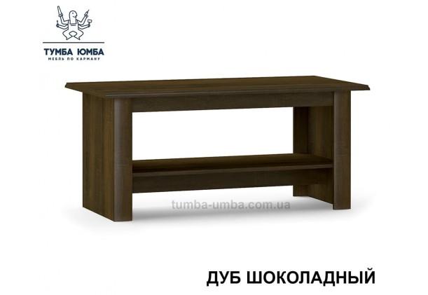 фото недорогой современный журнальный стол Парма МДФ цвет Дуб шоколадный / Крем глянец дешево от производителя с доставкой по всей Украине в интернет-магазине TUMBA-UMBA™