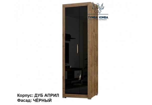 Фото недорогой готовый стандартный платяной Шкаф Парма ДСП для одежды в чёрном цвете дешево от производителя с доставкой по всей Украине