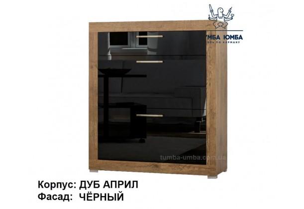фото недорогой современной тумбы для обуви Парма в чёрном цвете в прихожую в интернет-магазине мебели эконом-класса TUMBA-UMBA™