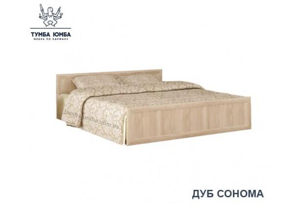 фото стандартная двуспальная кровать Соната 160 см в спальню в цвете дуб сонома дешево от производителя с доставкой по всей Украине