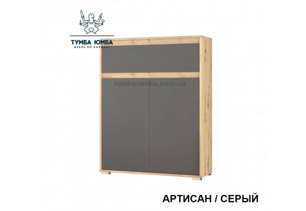 Фото недорогой современный комод Торино 2Д1Ш в цвете артисан-серый с дверцами и ящиком дешево от производителя с доставкой по всей Украине в интернет-магазине TUMBA-UMBA™