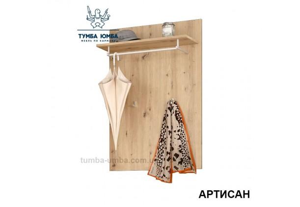 Фото готовая настенная вешалка с полкой Торино с крючками для верхней одежды в прихожую или офис дешево от производителя с доставкой по всей Украине в интернет-магазине TUMBA-UMBA™