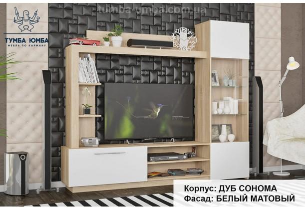 Фото гостиная Тренто Мебель-Сервис цвет дуб сонома и белый дешево от производителя с доставкой по всей Украине в интернет-магазине TUMBA-UMBA™