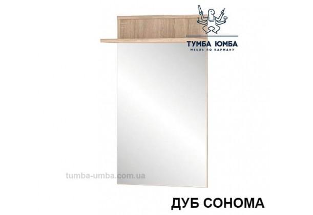 Фото недорогое готовое Зеркало Трио дуб сонома с полкой  на стену в зал, прихожую, спальню или офис дешево от производителя с доставкой по всей Украине