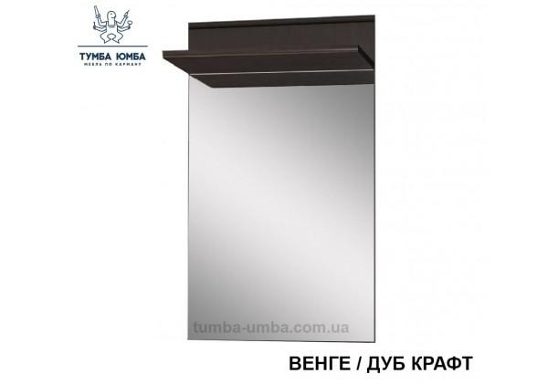 Фото недорогое готовое Зеркало Трио венге с полкой  на стену в зал, прихожую, спальню или офис дешево от производителя с доставкой по всей Украине