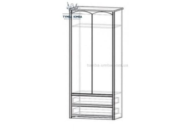 Шкаф одёжный 2Д2Ш Валенсия МС