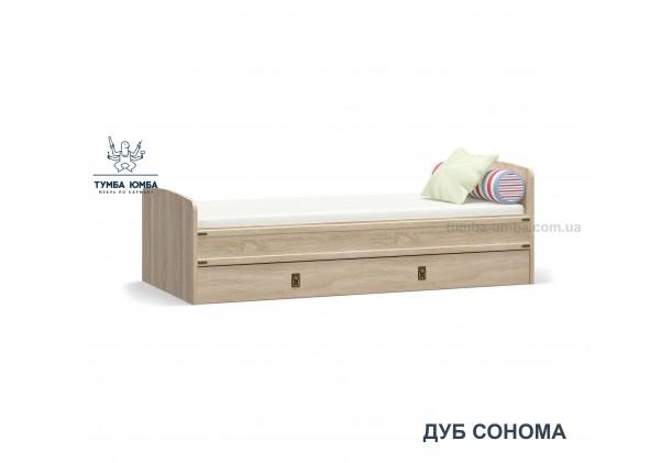 фото односпальная кровать Валенсия в цвете дуб сонома дешево от производителя Мебель Сервис с доставкой по всей Украине в интернет-магазине Тумба Юмба.
