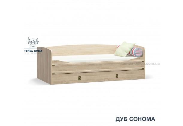 фото односпальная кровать-тапчан Валенсия в цвете дуб сонома дешево от производителя Мебель Сервис с доставкой по всей Украине в интернет-магазине Тумба Юмба.