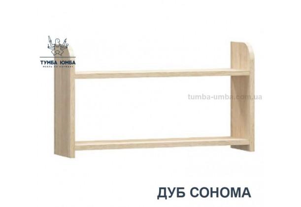 фото недорогая настенная полка Валенсия в цвете дуб сонома для книг в гостиную, над столом, кухню или прихожую дешево от производителя с доставкой по всей Украине в интернет-магазине TUMBA-UMBA™