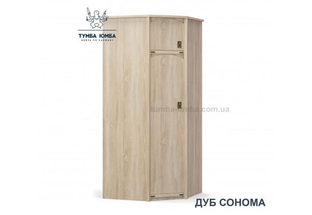 Фото недорогой готовый стандартный платяной угловой Шкаф Валенсия цвет дуб сонома ДСП для одежды дешево от производителя с доставкой по всей Украине в интернет-магазине TUMBA-UMBA™