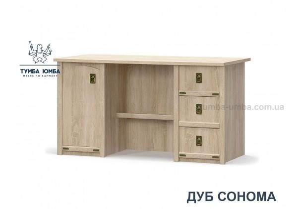 Фото недорогой современный письменный стол Валенсия 1Д3Ш ДСП в цвете дуб сонома дешево от производителя Мебель-Сервис с доставкой по всей Украине в интернет-магазине TUMBA-UMBA™