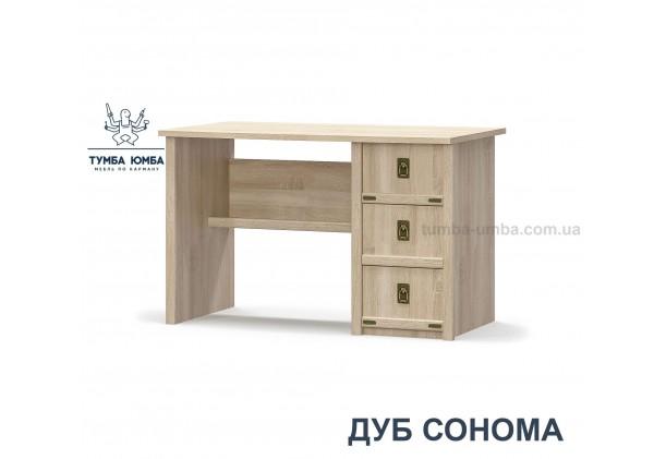 Фото недорогой современный письменный стол Валенсия 3Ш ДСП в цвете дуб сонома дешево от производителя Мебель-Сервис с доставкой по всей Украине в интернет-магазине TUMBA-UMBA™