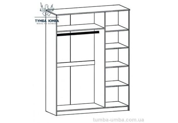 Шкаф одёжный 3Д Вероника МС