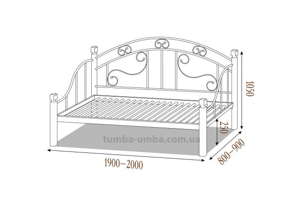 Кровать-диван Орфей на деревянных ножках