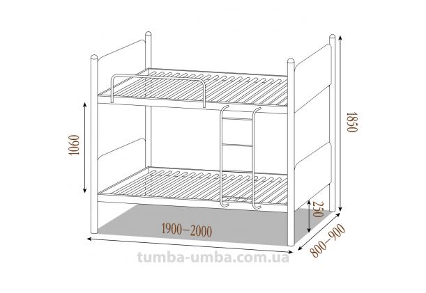 Двухъярусная металлическая кровать Арлекино (разборная)
