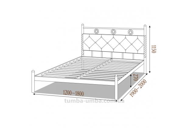 Кровать металлическая Белла