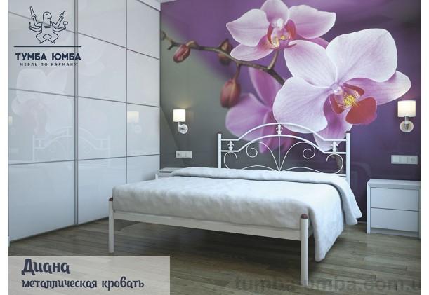 фото стандартная металлическая кровать Диана Металл-Дизайн в спальню, на дачу или в гостиницу дешево от производителя с доставкой по всей Украине