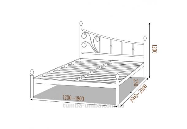 Кровать металлическая Калипсо-2