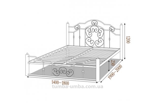 Кровать металлическая Кармен