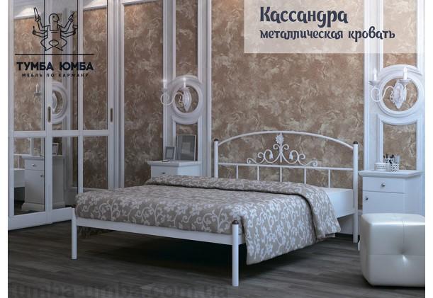 фото стандартная металлическая кровать Кассандра Металл-Дизайн в спальню, на дачу или в гостиницу дешево от производителя с доставкой по всей Украине