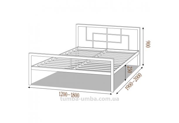 Односпальная металлическая кровать Квадро