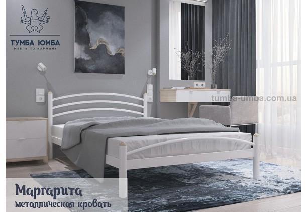фото стандартная односпальная металлическая кровать Маргаритаа Металл-Дизайн в спальню, на дачу или в гостиницу дешево от производителя с доставкой по всей Украине