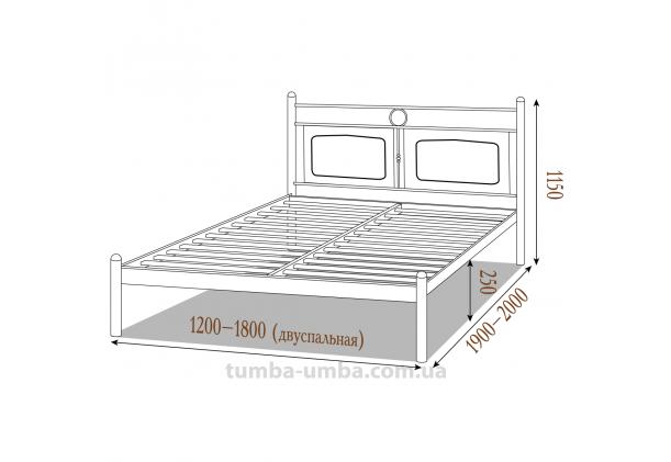 Кровать металлическая Николь
