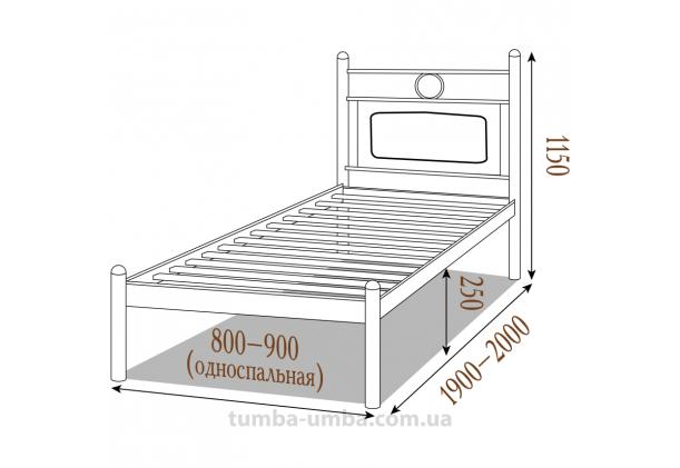 Односпальная металлическая кровать Николь