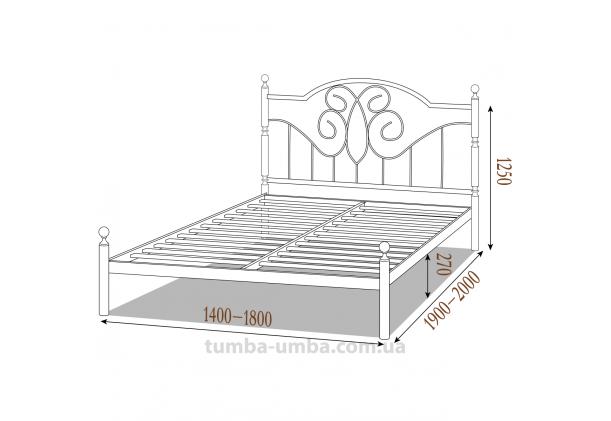 Кровать металлическая Офелия