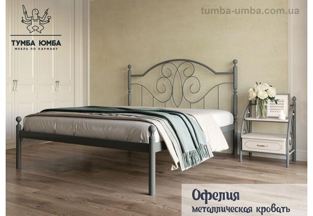 фото стандартная металлическая кровать Офелия Металл-Дизайн в спальню, на дачу или в гостиницу дешево от производителя с доставкой по всей Украине