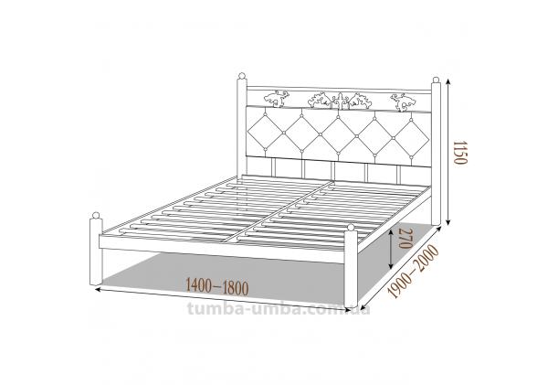 Кровать металлическая Стелла