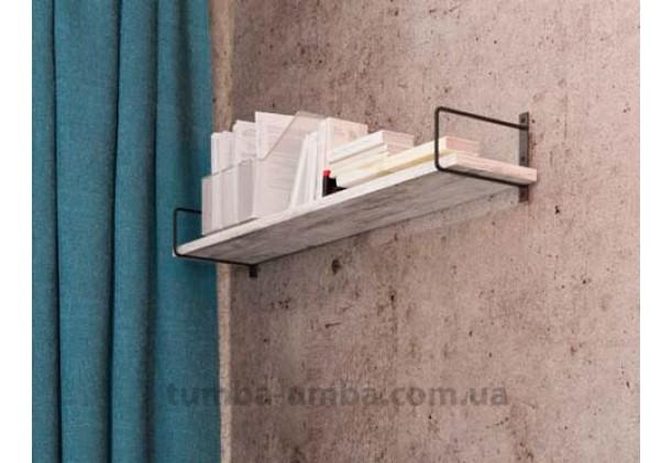 фото недорогая настенная полка Серия Квадро для книг в гостинную, над столом, кухню или прихожую в интернет-магазине мебели эконом-класса TUMBA-UMBA™