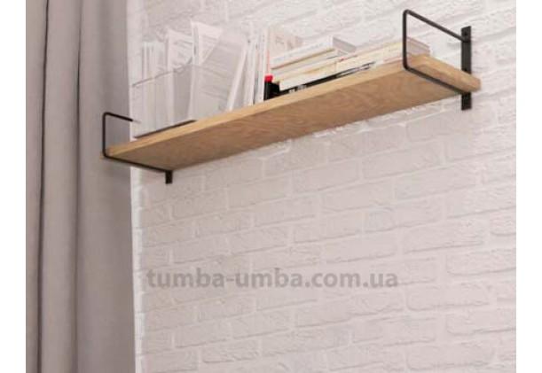 фото недорогая настенная полка Серия Ромбо для книг в гостинную, над столом, кухню или прихожую в интернет-магазине мебели эконом-класса TUMBA-UMBA™