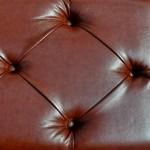 Кожзаменитель с пуговицами коричневый