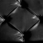 Кожзаменитель с пуговицами чёрный