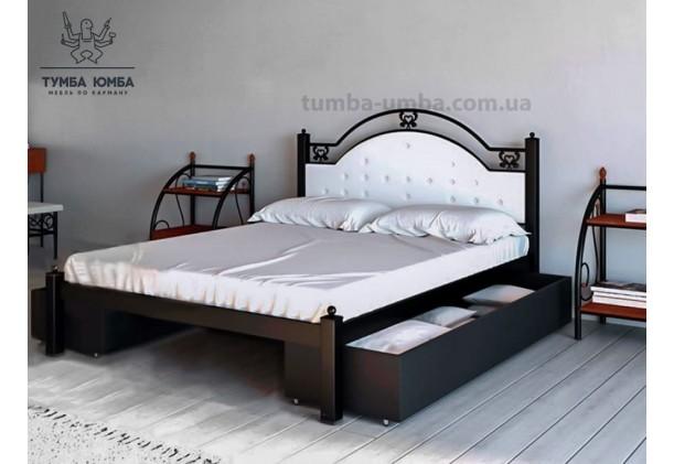 фото стандартная металлическая кровать Эсмеральда Металл-Дизайн в спальню, на дачу или в гостиницу дешево от производителя с доставкой по всей Украине