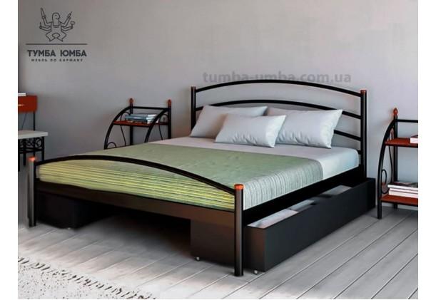Односпальная металлическая кровать Маргарита
