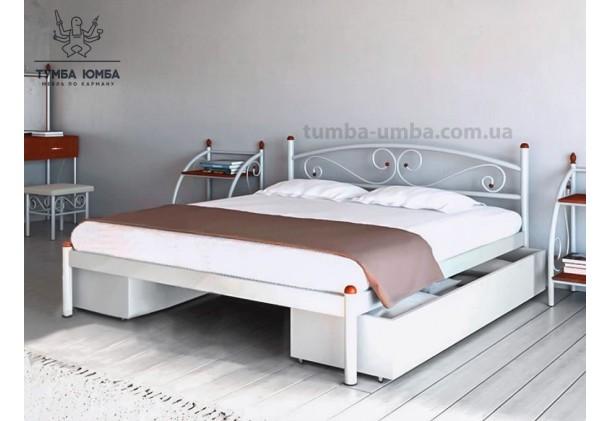 фото стандартная металлическая кровать Вероника Металл-Дизайн в спальню, на дачу или в гостиницу дешево от производителя с доставкой по всей Украине