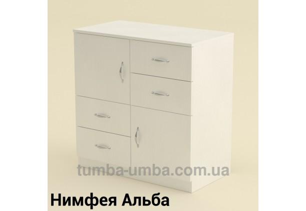 Фото недорогой современный комод 2+4 Компанит цвет Нимфея Альба (белый структурный) в интернет-магазине TUMBA-UMBA™ Украина