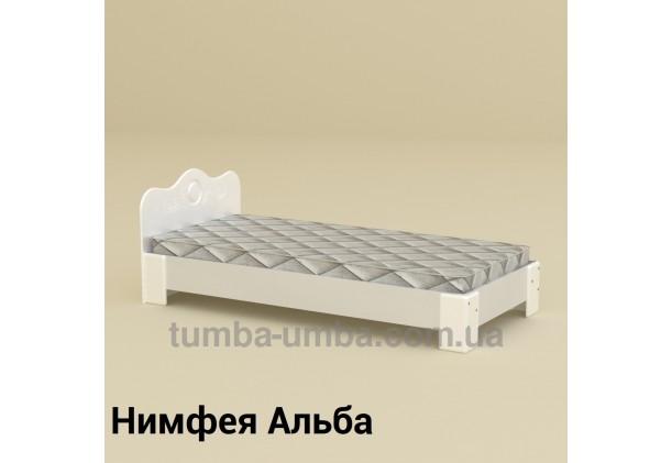 фото стандартная кровать-100 МДФ Компанит в спальню, на дачу или для общежития в цвете Нимфея Альба (белый структурный) дешево от производителя с доставкой по всей Украине