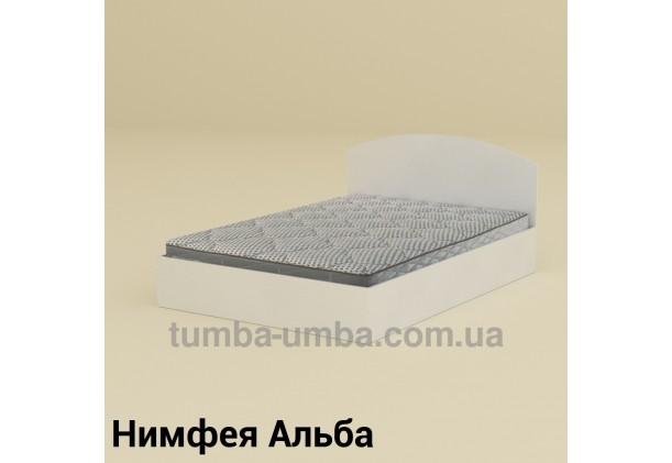 фото стандартная кровать 140 см с нишей для хранения Компанит в спальню, на дачу или для общежития в цвете Нимфея Альба (белый структурный) дешево от производителя с доставкой по всей Украине