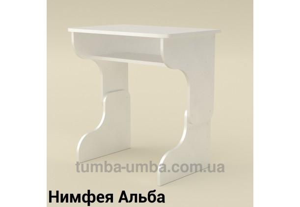 Фото готовый стандартный письменный стол-парта Малыш для дома ребенку для уроков в цвете Нимфея Альба (белый структурный) дешево от производителя с доставкой по всей Украине
