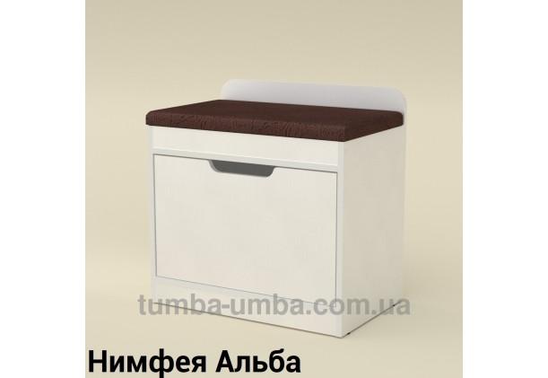 фото недорогой современной тумбы для обуви ТО-8 Компанит Нимфея Альба (белый структурный) в прихожую в интернет-магазине мебели эконом-класса TUMBA-UMBA™