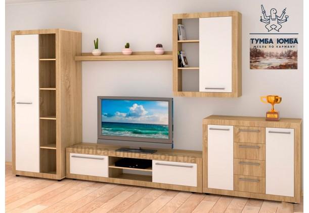 фото недорогая модульная стенка в гостиную МГ-1 ДСП Компанит в интернет-магазине мебели эконом-класса TUMBA-UMBA™